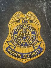 "US Diplomatic Security Service Mission Security Logo Rare 4"" Iron On Patch USA"