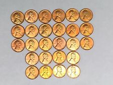 CH//GEM RED BU 1950-1959 PDS P D S LINCOLN CENTS-COMPLETE DECADE SET #/&15 26 LOT