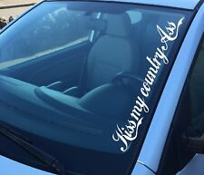 CAR 4X4 Ute Sticker KISS MY COUNTRY ASS 500mm Country music Cowboy Cowgirl