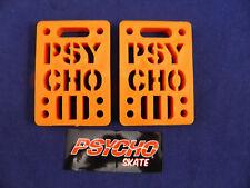 "PSYCHO SHOCK RISER - 1/4"" SET OF 2 PADS *NEW* ORANGE"