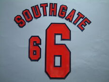 SOUTHGATE NOME+NUMERO UFFICIALE ENGLAND HOME WC FRANCE 1998 OFFICIAL NAMESET
