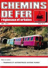 CHEMINS de FER RÉGIONAUX et URBAINS - N° 223 (1991 - 1) (FACS - CFRU) (Train)