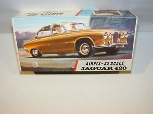 Vintage AIRFIX Jaguar 420 1/32 Scale Series 3 Complete Boxed Rare Red Stripe Box