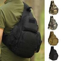 Tactical Military Sling Chest Pack Crossbody Black Laptop Backpack Shoulder Bag