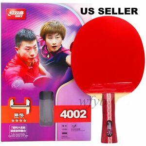 DHS 4 Star R4002 Long Handle Table Tennis Ping Pong Racket Paddle Shakehand/FL