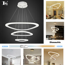 36W Dimmable LED Chandelier Pendant Light Modern Acrylic Adjustable Ring lamp