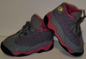 Nike Air Jordan 13 Retro Fusion Pink Little Girl Size 6C 414581-029 Baby Shoes