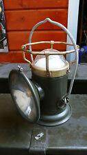 Objet Métier Lanterne à Piles Lampe Militaire Portable 2 Feux Acier Armée 1970