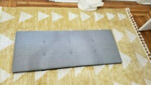 Grey Upholstered Headboard w/ Tufted Buttons for Full Size Bed hardware included