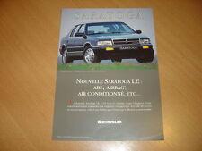 FEUILLET Chrysler Saratoga de 1994