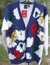 Mike & Me Boutique Like Cardigan Sweater/ Vivid Primary Kites Fits Like a Large