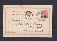 GERMANY 1904, Officies in Turkey, Postcard from Smyrna to Bradford