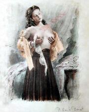 """Paul Emile Becat Young Woman 1950 Fine Art Photo Reproduction Color 8""""x10"""""""