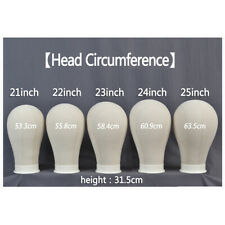 Canvas Mannequin Head Styling Wig Making Head with Free Clamp Stand Pins