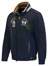 Sale%La Martina - Men's Sweat Jacket - Blue T-shirt - Polo shirt shirt Size:M