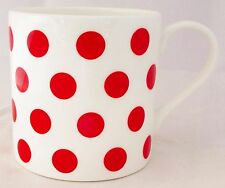 Red Spots Mug Fine Bone China Large Capacity Balmoral Red Mug Hand Decorated UK