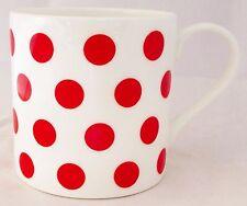 Red Spots Mug Fine Bone China Large Capacity Balmoral Red Mug Hand Decorated UK