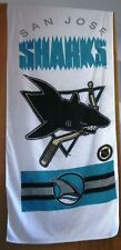 1991 NHL San Jose Sharks Beach Towel Banner Rare Vintage 100% Cotton Official