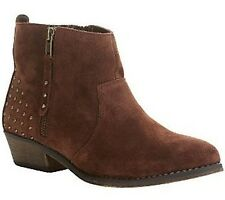 White Mountain Jackie Suede Ankle Boots PICK SIZE COLOR NW