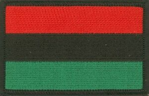 "25 Pcs Rasta Pan-African Flag (RBG) Embroidered Patches 3""x2"" iron-on"