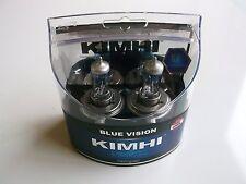 KIMHI H4 12V 60/55W BLUE VISION HALOGEN HEADLIGHT BULBS COLOUR 8000K TWIN PACK
