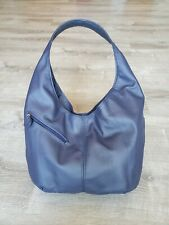 Blue Leather Hobo Bag, Everyday Women Purses, Handmade Handbags, Alicia