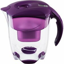 MAVEA 1005727 Elemaris XL 9-Cup Water Filtration Pitcher, Eggplant
