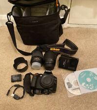 Nikon D3200 24.2MP DSLR Dual Lens (18-55mm + 55-200mm Lens + Bag)