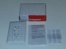 Legrand / P&S 1595-W GFCI Duplex Receptacle Trip Light 15A 125V & Wall Plate