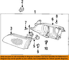 TOYOTA OEM 93-97 Corolla Headlight Head Light Lamp-Housing Right 8110502010