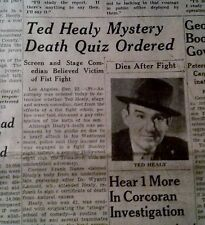 DEC 22, 1937 NEWSPAPER PAGE #2676- TED HEALY, THREE STOOGES DIES MYSTERIOUSLY 2P