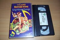 THE LAND BEFORE TIME SING-ALONG-SONGS VHS