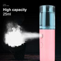 USB Nano Facial Mister Handy Cool Mist Spray Machine Face Hydration Sprayer Gift