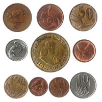 10 DIFFERENT SOUTH AFRICAN COINS FROM AFRICA (RSA) OLD COLLECTIBLE COINS CENTS