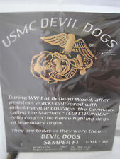 UNITED STATES MARINE CORPS USMC DEVIL DOGS PIN - MADE BY GUNZ - NEW