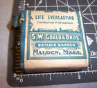 Vintage SW Gould & bros, LIFE EVERLASTING, 1900s Pharmacy New unopened box NOS