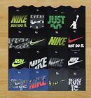 Men's Nike Cotton Tee Athletic Cut Black T-Shirt Size L XL 2XL