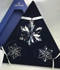 Swarovski Christmas Snowflake Star Ornament Set 2014 - 5059030 Nib