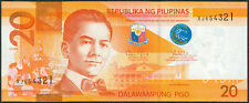 2014-A Philippine 20 Pesos NGS Serial No. REVERSE LADDER XJ654321 PNoy Banknote