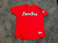 Team Issued Pawtucket Red Sox Red Alternate Jersey