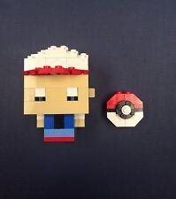 Lego Custom Ash Ketchum Character Pokeball Trainer Nintendo Pokémon Go