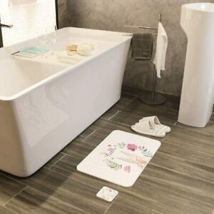 Poncho Diatomaceous Earth Bath Mat 23.6''x15.2'' Non-Slip Deodorant Mats