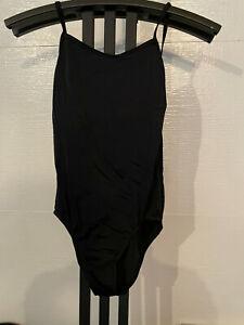 black unlined shelf bra BALERA  leotard size MA