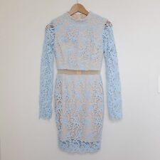 Passion Fusion Embroidered Lace Long Sleeve Bodycon Cutout Dress Size XS 6 PX8