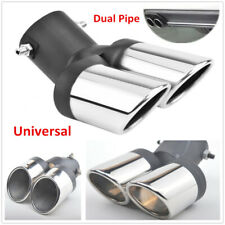 63mm Auto Car Modification Grilled Stainless Steel Dual Pipe Exhaust Pipe Covers