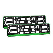 2 x universel number plate holders entoure cadres toute voiture-vert effet