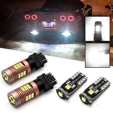 Reverse Backup + License Plate Lights LED Bulbs for Chevy Corvette C6 2005-2013