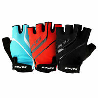 Cycling MTB Gel Gloves Half Finger Shockproof Breathable Bike Mitts Fingerless