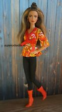 BARBIE STREET FASHIONS Geometric Wrap Tunic Top Outfit with Boots