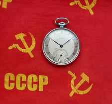 MOLNIJA. Vintage Soviet Russian mechanical pocket watch. 50's USSR